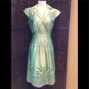 💚 KAY UNGER SILK DRESS SIZE 4